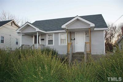 Multi Family Home For Sale: 303/305 Kittrell Street