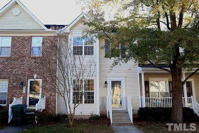 Raleigh Townhouse For Sale: 3034 Winding Waters Way