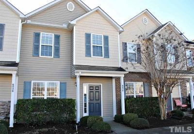 Raleigh Townhouse For Sale: 6048 San Marcos Way