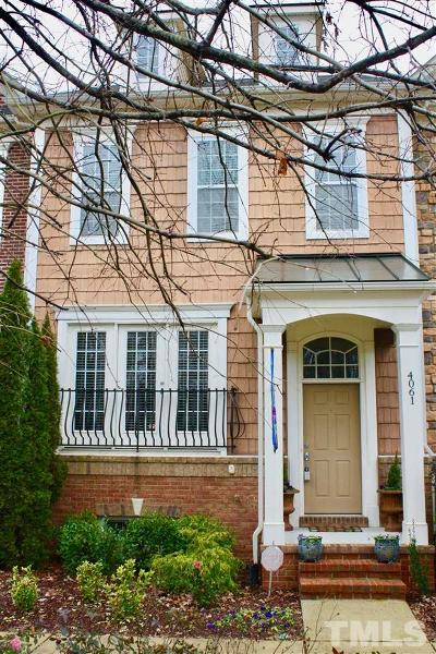Cary Townhouse For Sale: 4061 Yellowfield Way
