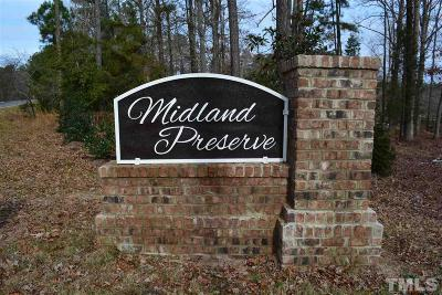 Chatham County Residential Lots & Land For Sale: 467 Midland Preserve Way