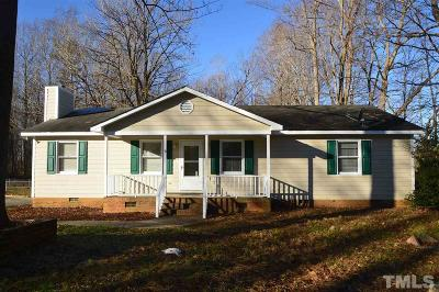Rougemont Single Family Home Pending: 6801 Kiger Road