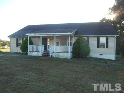 Zebulon Single Family Home Pending: 1029 Water Plant Road