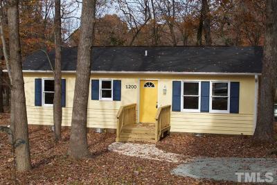 Hillsborough Single Family Home For Sale: 1200 John Breckenridge Drive