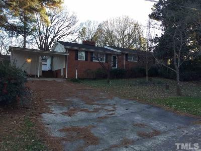 Wake County Single Family Home Contingent: 208 Reynolds Road