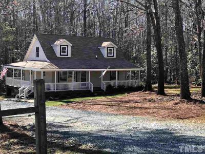 Pittsboro Single Family Home Contingent: 987 Sugar Lake Road