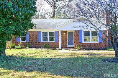 Raleigh Single Family Home For Sale: 5209 Round Hill Lane