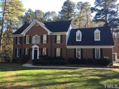 Raleigh Single Family Home Contingent: 11800 Straley Place