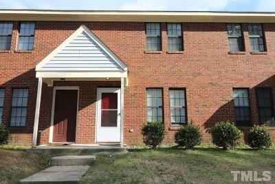 Raleigh NC Townhouse Pending: $85,000