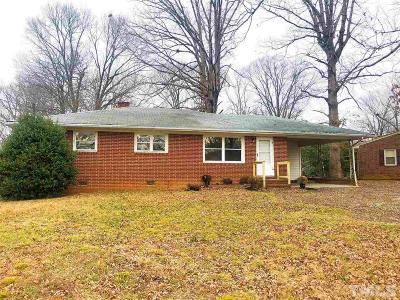 Roxboro NC Single Family Home For Sale: $105,000