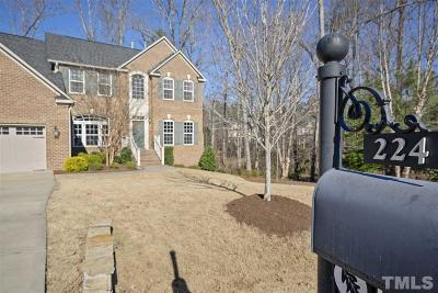 Cary Single Family Home For Sale: 224 Hilliard Forest Drive