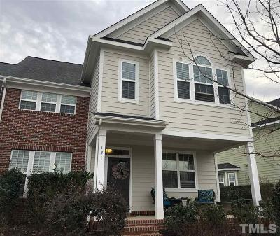 Holly Springs Townhouse For Sale: 121 Coffee Bluff Lane