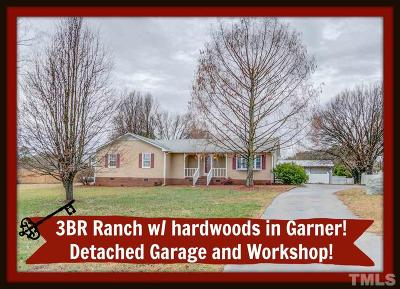 Garner Single Family Home Contingent: 3110 N Shiloh Road