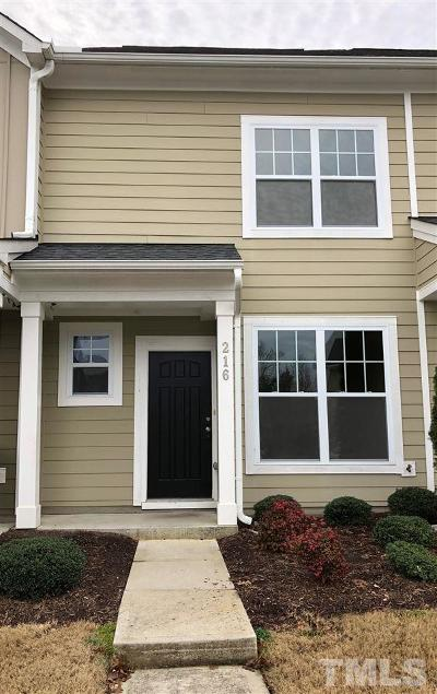 Chapel Hill Townhouse For Sale: 216 Lexes Trail