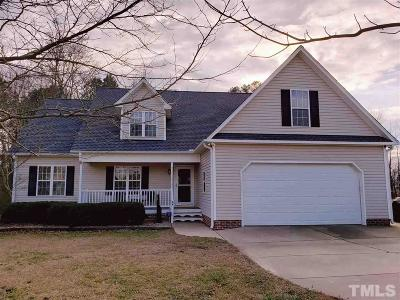 Angier Single Family Home Contingent: 64 Halter Court