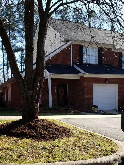 Holly Springs Townhouse For Sale: 124 Tuska Hills Drive