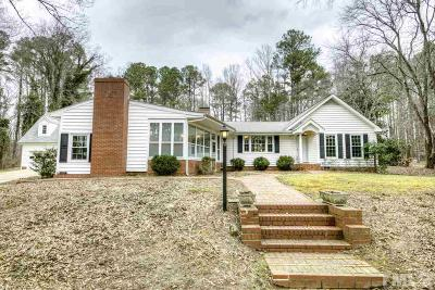 Durham Single Family Home Contingent: 5816 Mt Sinai Road