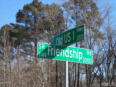 Wake County Residential Lots & Land For Sale: Friendship Road