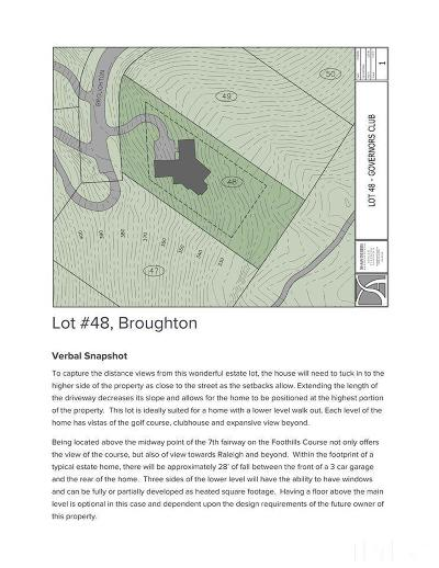 Chapel Hill Residential Lots & Land For Sale: 55235 Broughton