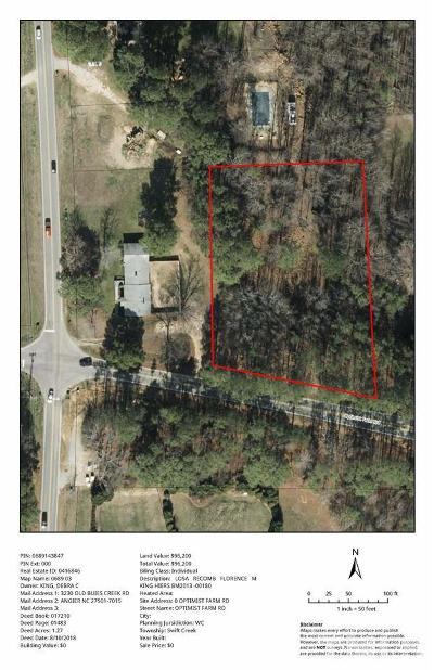 Apex Residential Lots & Land For Sale: 2636 Optimist Farm Road
