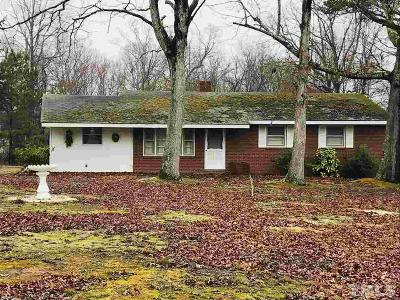 Youngsville Single Family Home Pending: 6814 W Nc 96 Highway West