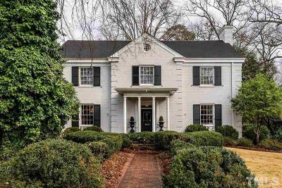 Raleigh Single Family Home For Sale: 1900 St Marys Street