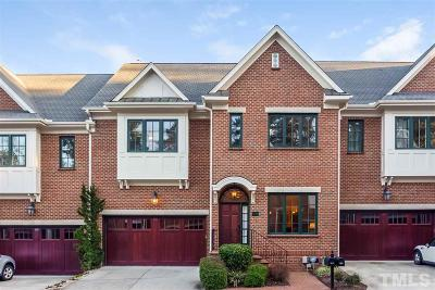 Chapel Hill Townhouse For Sale: 202 Old Franklin Grove Drive