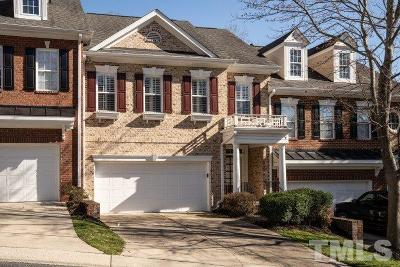 Raleigh Townhouse For Sale: 7202 Summit Waters Lane