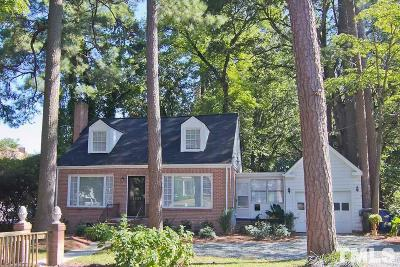Raleigh Single Family Home For Sale: 1209 Williamson Drive