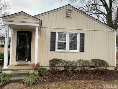 Raleigh Rental For Rent: 2327 Bernard Street #2327