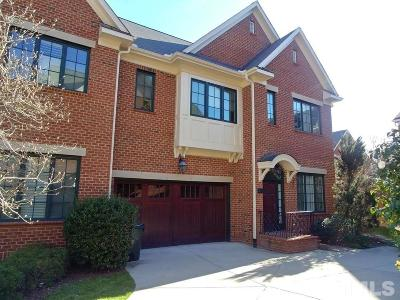Chapel Hill Townhouse For Sale: 206 Old Franklin Grove Drive