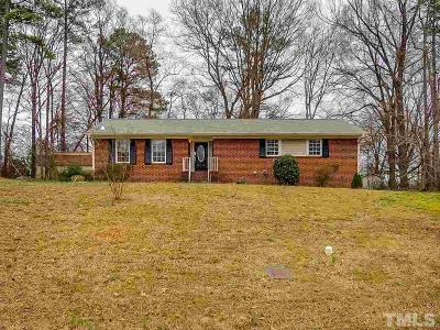 Durham NC Single Family Home For Sale: $185,000