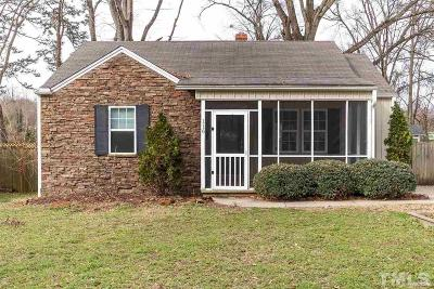 Raleigh Single Family Home For Sale: 116 Plainview Avenue