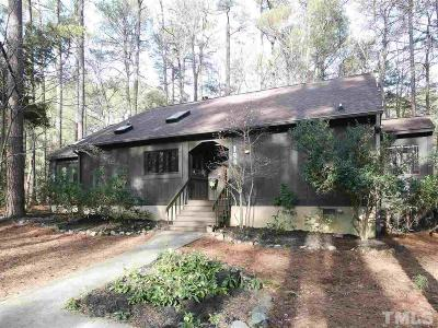 Pittsboro Single Family Home Contingent: 128 Shadowbrook