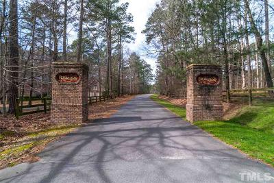 Wake County Residential Lots & Land Contingent: 2733 Silver Stirrup Lane