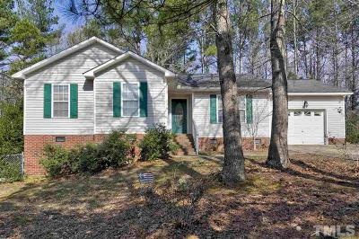 Holly Springs Single Family Home Contingent: 82 Hidden Valley Drive