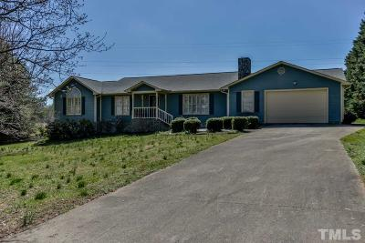 Hillsborough Single Family Home Pending: 1007 Panther Court