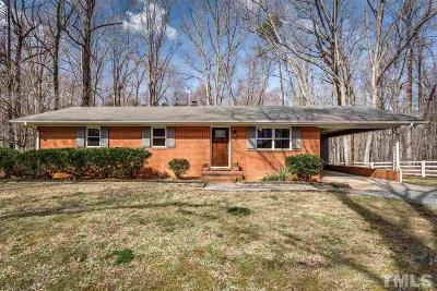Raleigh Single Family Home For Sale: 2808 Carpenter Pond Road