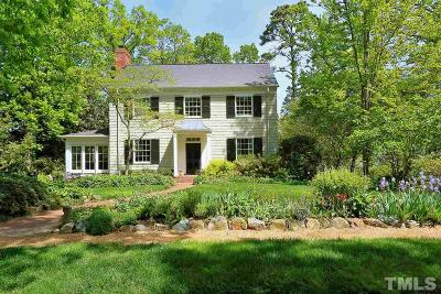 Chapel Hill Single Family Home For Sale: 735 Gimghoul Road