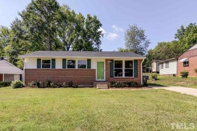 Raleigh Single Family Home For Sale: 844 Hadley Road