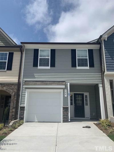 Clayton Townhouse For Sale: 304 E Porthaven Way #Lot 139