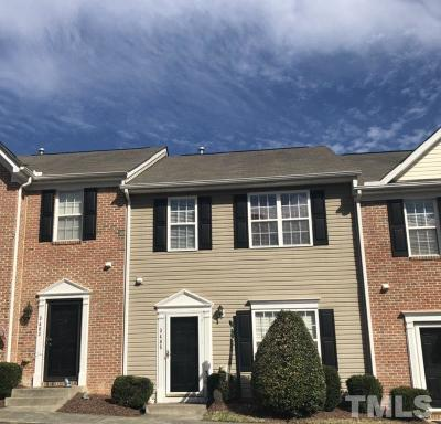 Raleigh Townhouse For Sale: 3405 Baton Road