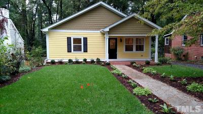 Raleigh, Cary, Holly Springs, Fuquay Varina, Apex, Durham, Wake Forest Single Family Home For Sale: 1008 Holloway Street