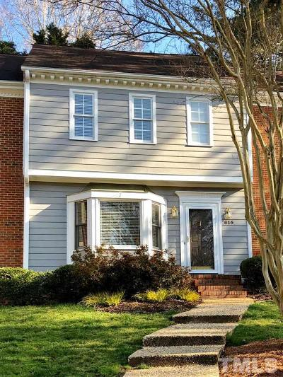 Raleigh, Cary Townhouse For Sale: 615 Weathergreen Drive
