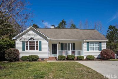 Wendell Single Family Home Contingent: 263 Wood Green Drive