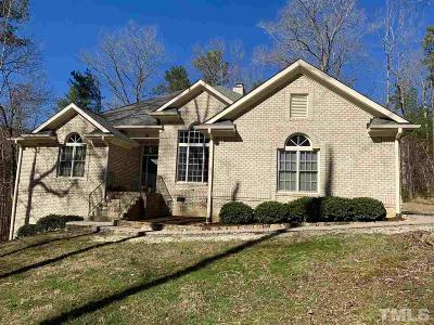 Pittsboro Single Family Home Contingent: 157 Burnett Circle Extension