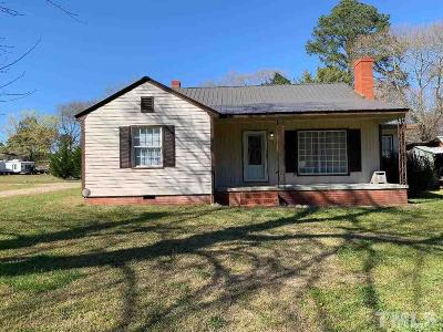 Harnett County Single Family Home Pending: 104 West Old Road