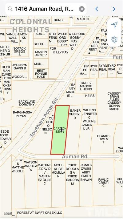 Raleigh Residential Lots & Land For Sale: 1416 Auman Road