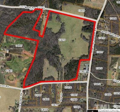 Chatham County Residential Lots & Land Pending: 2194 Siler City Glendon Road
