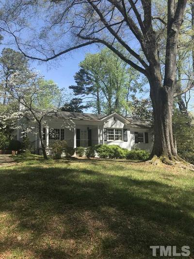 Raleigh Single Family Home For Sale: 119 Pasquotank Drive